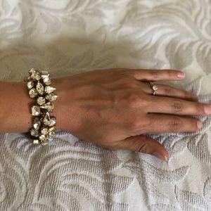 J. Crew crystal bracelet, chunky, bright